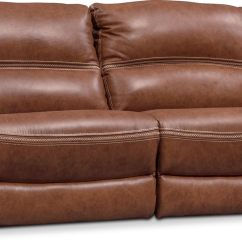 Triple Reclining Sofa Leather Sofas Chesterfield Style Avanti 2 Piece Power Brown