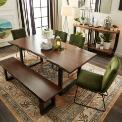 Green Dining Room Table And Chairs Foldable Long Sofa Chair Portland 4 Upholstered Side Bench