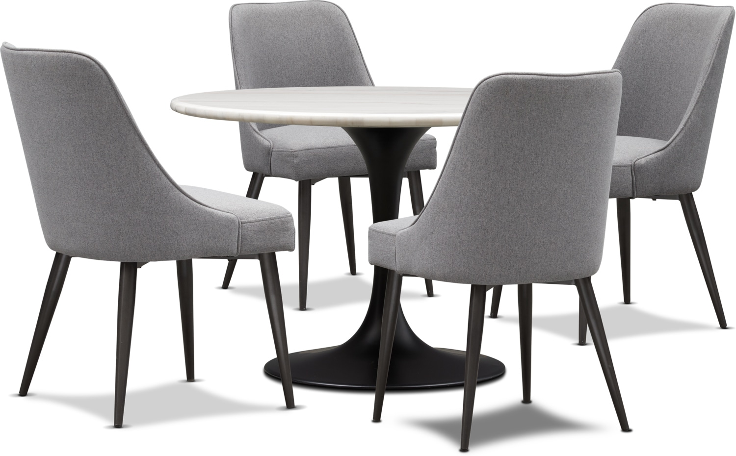 Dining Room Upholstered Chairs Lillian Dining Table And 4 Upholstered Side Chairs