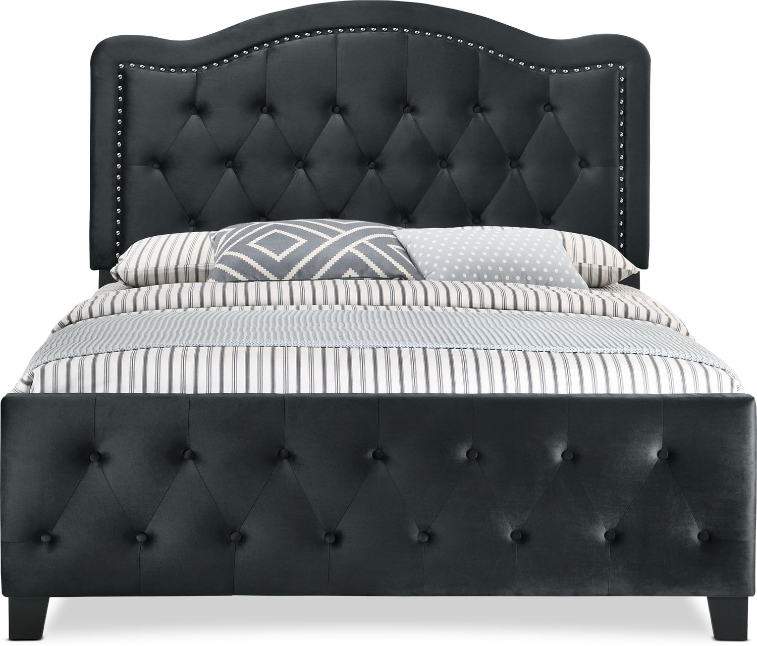 avery upholstered bed american