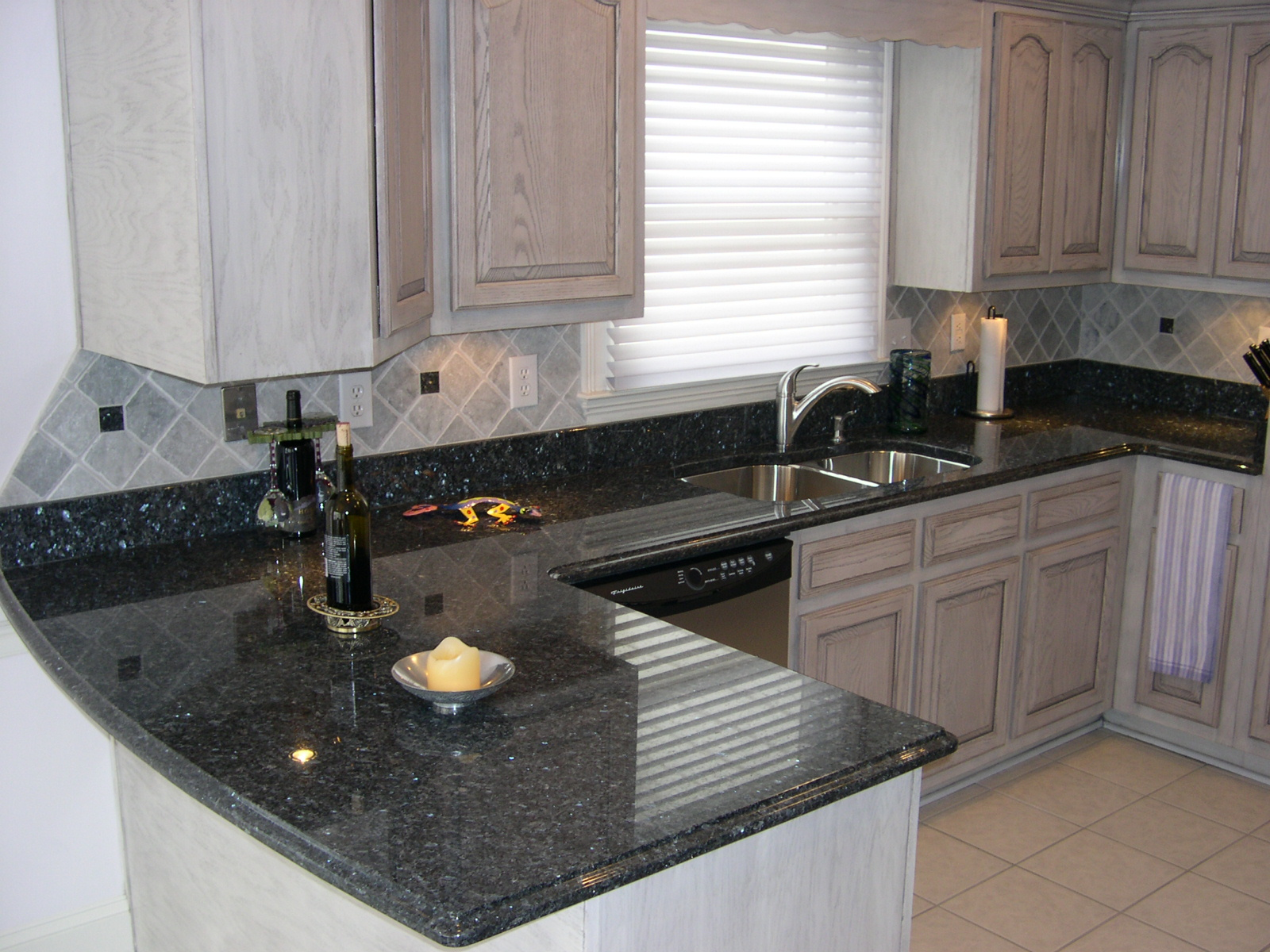 blue pearl granite kitchen high arc faucet crowe counters at countertop warehouse acworth