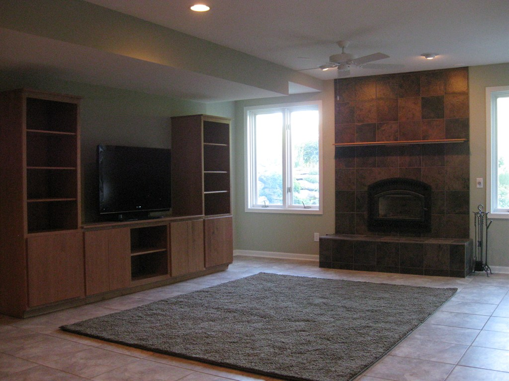 Custom Built Fireplace Surround and Hearth with Amish