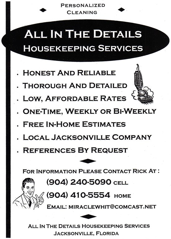 All In The Details Housekeeping Services LLC