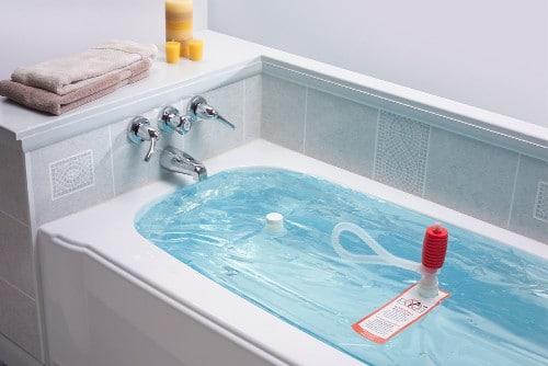 Contenedor de almacenamiento de agua de emergencia para bañera WaterBOB, almacenamiento de agua potable, sobrevivencia en huracanes, sin BPA (100 galones) (1)