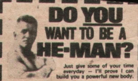 vintage fitness clipping