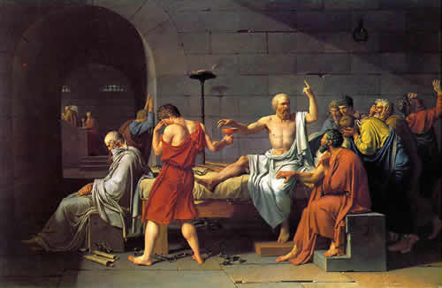 Jacques-Louis Davids painting The Death of Socrates 1787