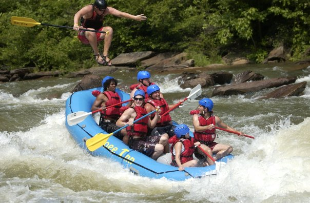 Joe Cope Whitewater Rafting Guide Action Shot