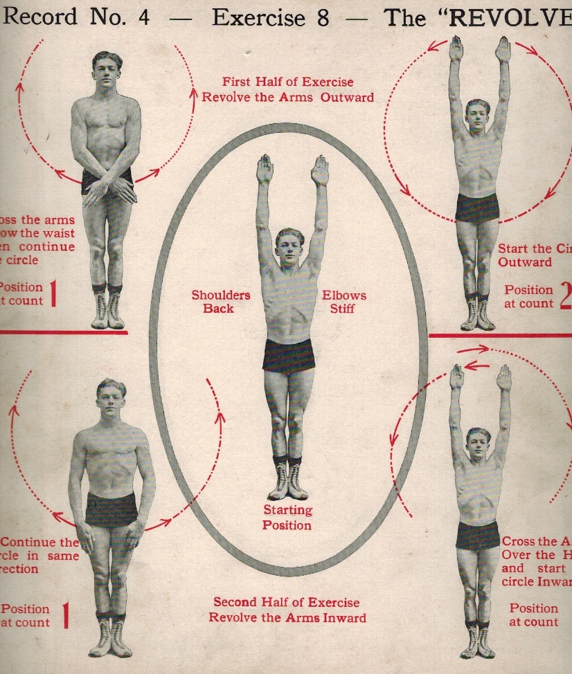 medium resolution of for the first part of the exercise cross your arms below the waist then raise them above the head in a circular motion with the arms revolving to face