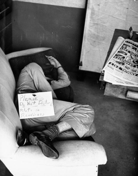 vintage man napping on couch do not disturb sign