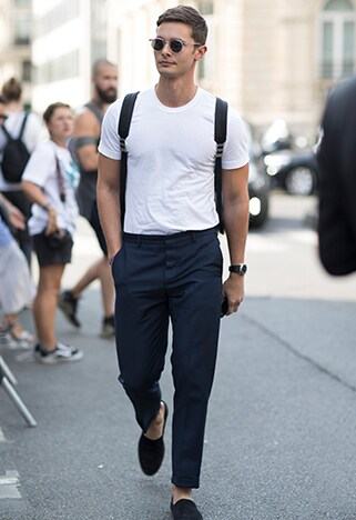 Street styler wearing white to enhance his tan | ASOS Style Feed