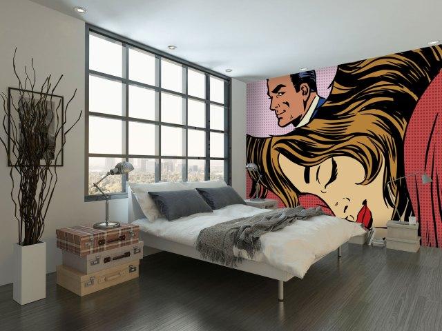 Pop Art Dream Romance mural wallpaper from Wallsauce
