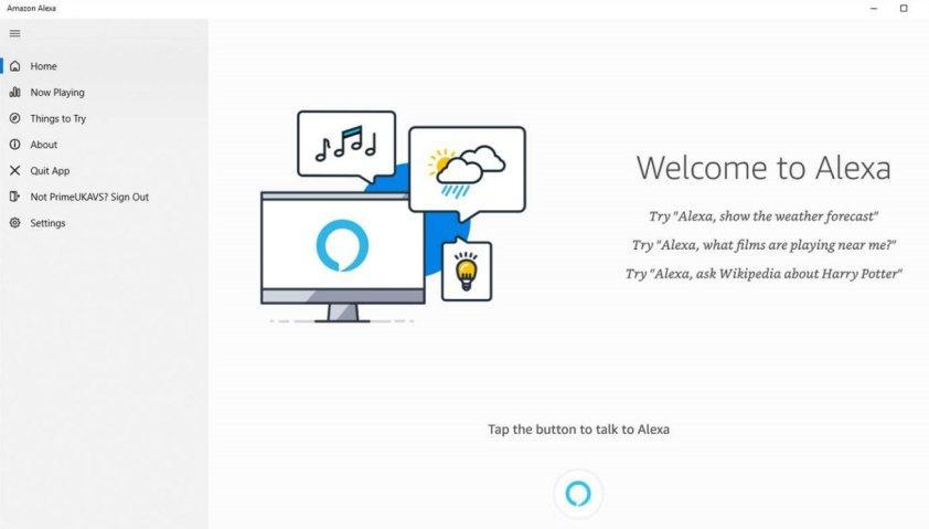 Amazon Alexa on Windows 10