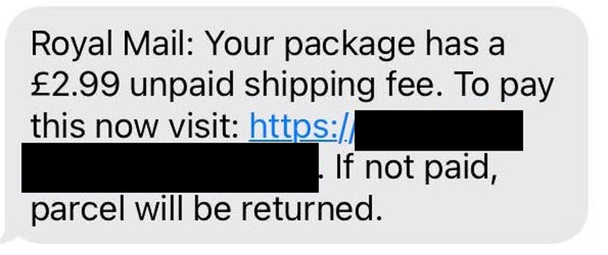 Royal Mail scam text