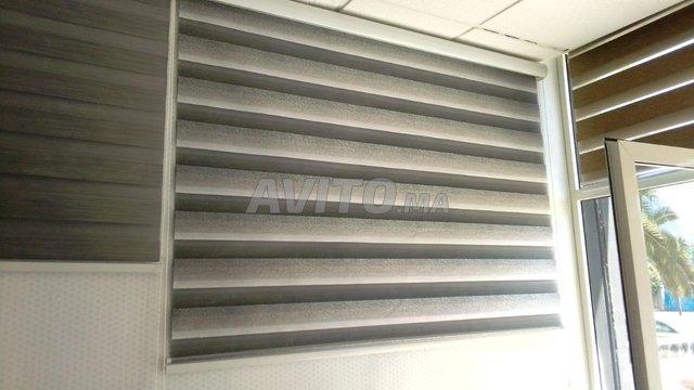 stores et rideaux en aluminium et tissu