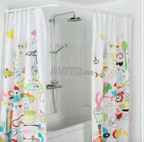 vends tringle et rideau de douche ikea