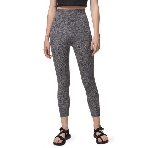 2b8572eb460557 ... Solid Yoga Spacedye High Waist Capri Leggings - Women' ...