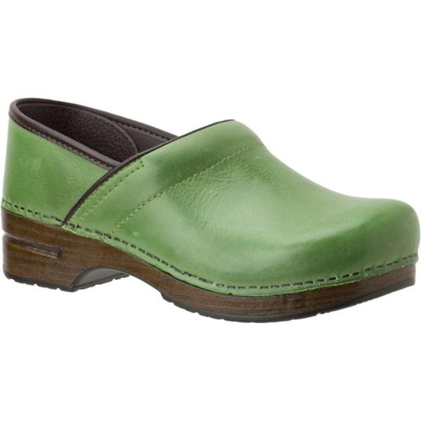 Green Dansko Clogs