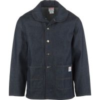 Pointer Brand Indigo Denim Shawl Collar Jacket