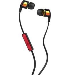 skullcandy smokin buds 2 earbuds with mic spaced out orange iridium  [ 900 x 900 Pixel ]