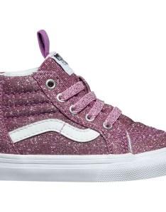 Vans sk hi zip skate shoe toddler girls  lurex glitter also backcountry rh