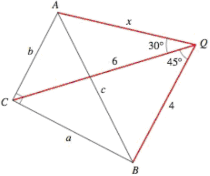 Finding a Length In the figure, triangle ABC is a right