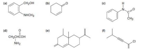 Locate and identify the functional groups in the following
