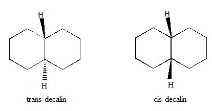 We saw in Problem 4-20 that cis-decalin is less stable
