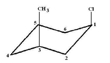 Draw the more stable chair conformation of the following