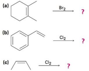 Predict the products for the following reactions, showing