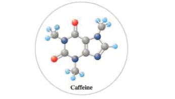 Caffeine. C 8 H 10 N 4 O 2 , is a stimulant found in tea