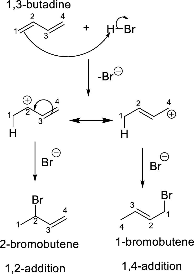 Predict the structure of the major 1,2-addition product