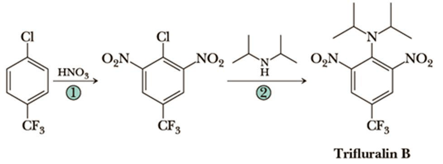 Following are the final steps in the synthesis of