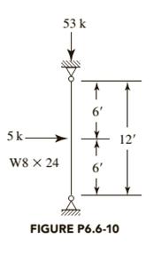 The loads in Figure P6.6-10 are service loads consisting