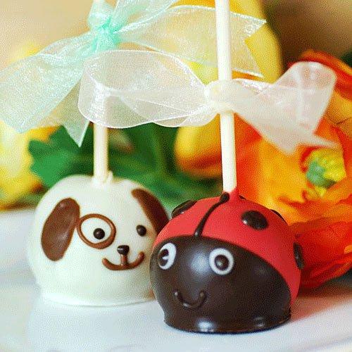 Ladybug Brownie pop