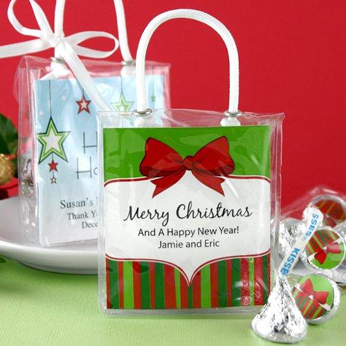 Holiday Hershey's Kisses and bag