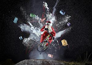 Christmas Santa Bike Shred