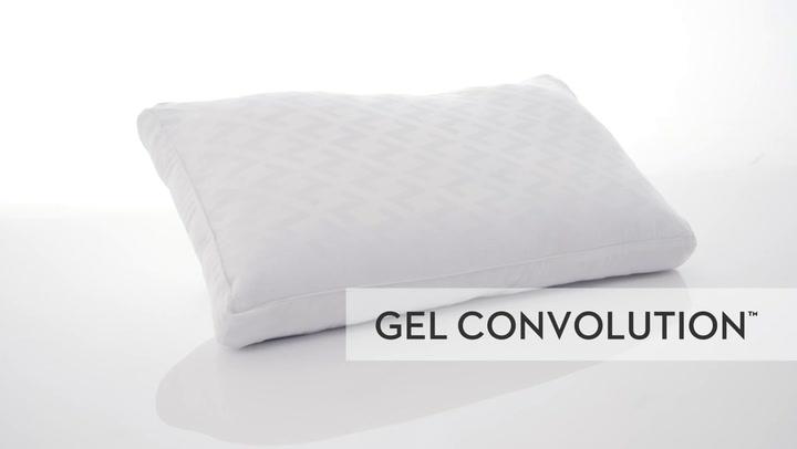 malouf z convolution gel queen memory foam pillow