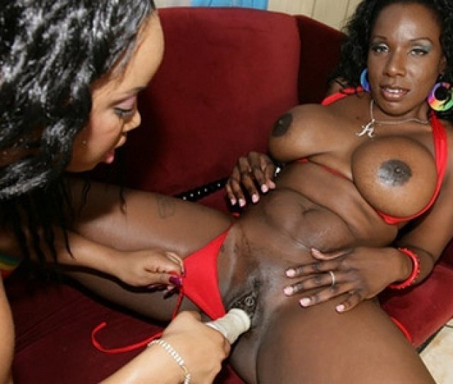These Two Black Chicks Have Very Juicy Bodies Its Too Bad That Theyre All About The Pussy Because Any Guys Would Love To Tear Up The Big Black