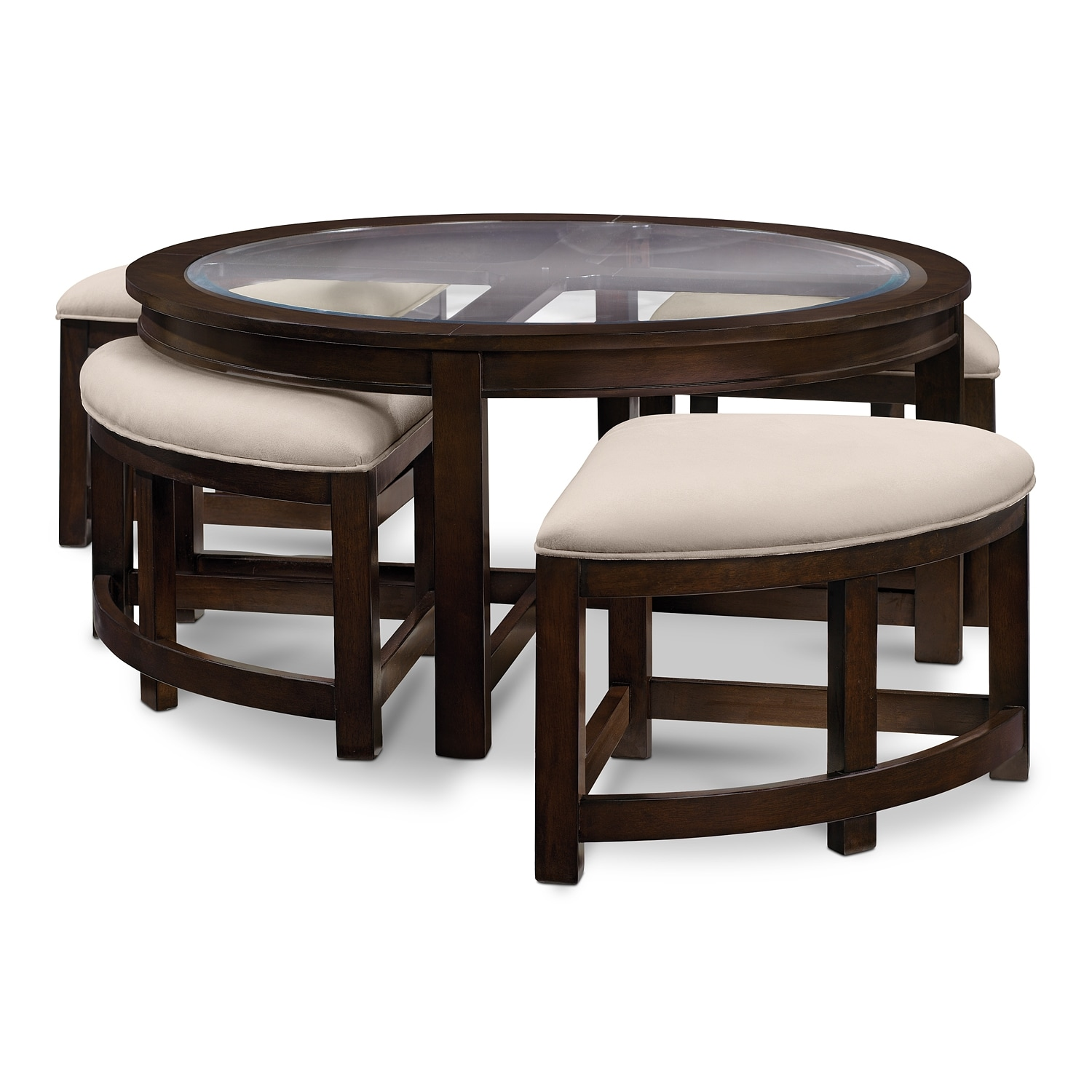 coffee table with chairs fishing chair price four corners cocktail w 4 benches merlot value
