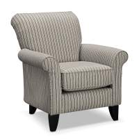 Colette Accent Chair - Gray Stripe | Value City Furniture