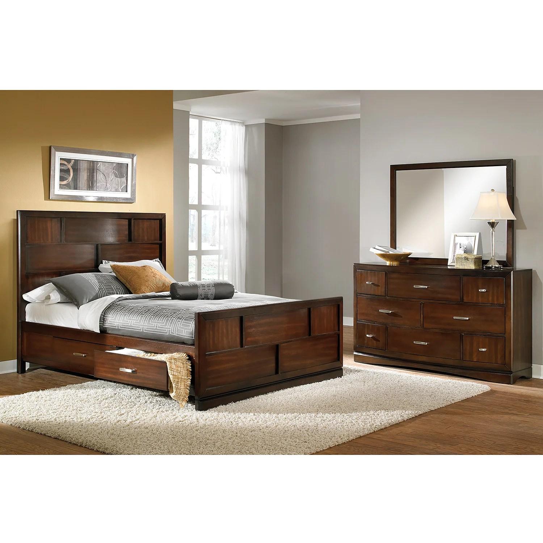 Toronto 5 Piece King Storage Bedroom Set Pecan