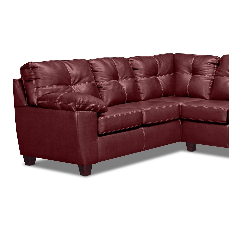 rialto sofa bed signature design by ashley zeth denim sleeper ii leather 2 pc sectional value city