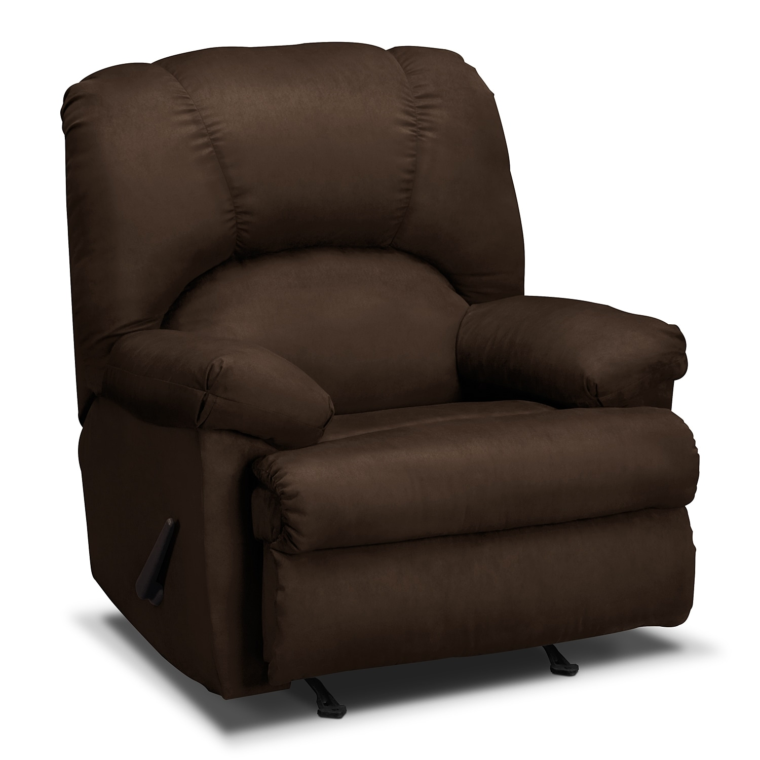 Reclining Rocking Chair Quincy Rocker Recliner Chocolate Value City Furniture