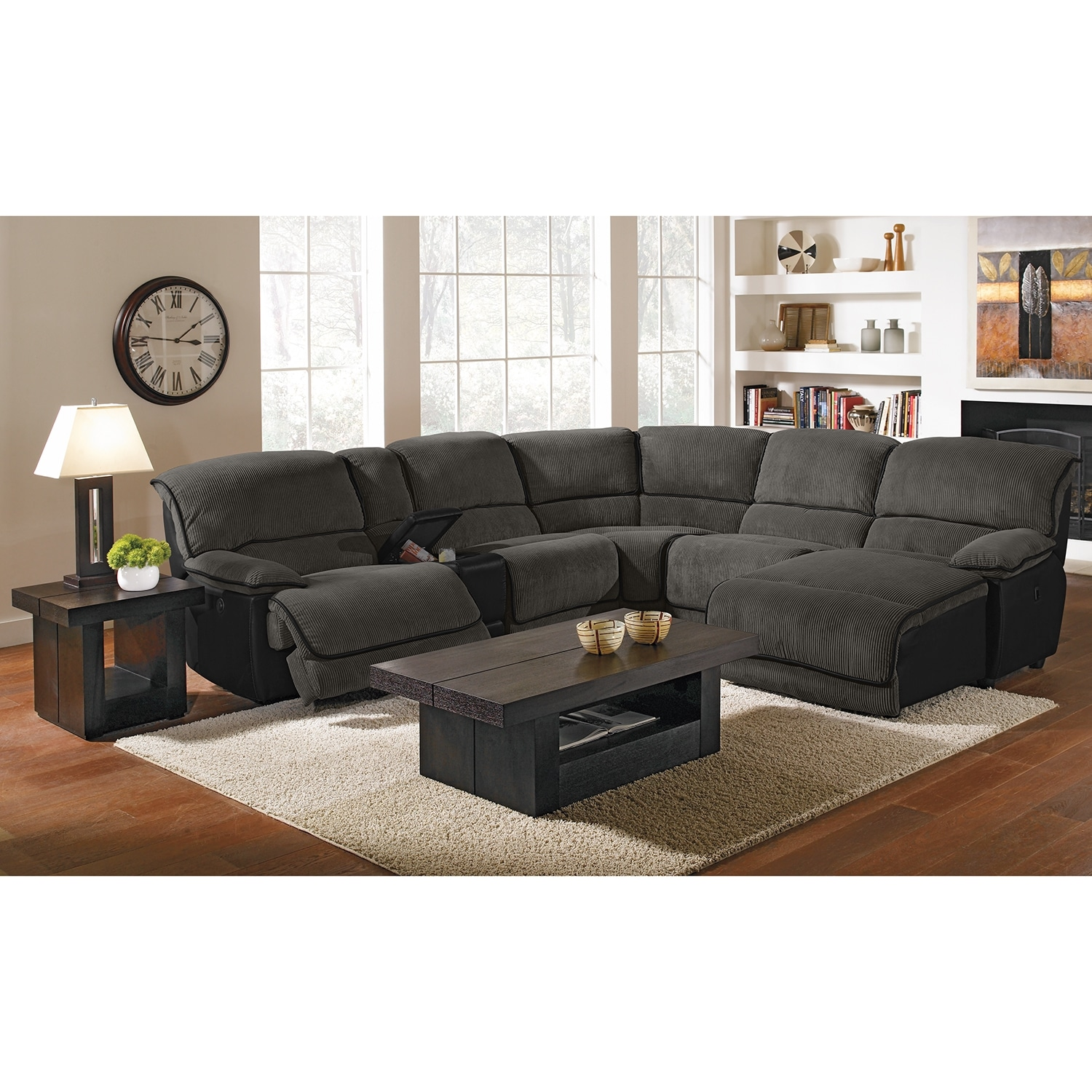 del mar custom sectional sofa martino leather 3 piece ii upholstery 6 pc power reclining