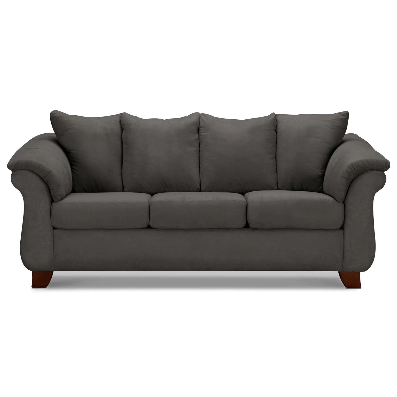 Adrian Graphite Sofa  Value City Furniture