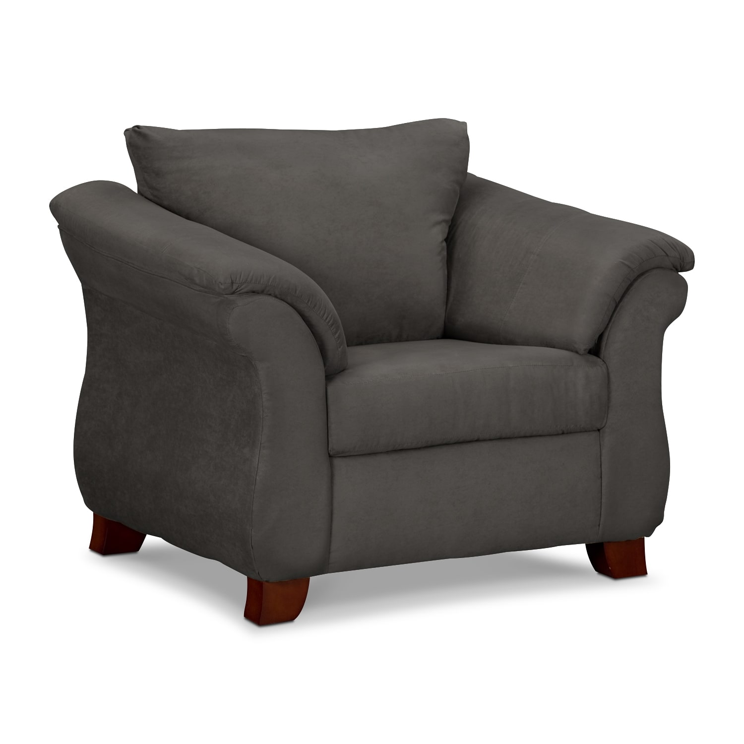 Value City Chairs Living Room Furniture Adrian Graphite Chair