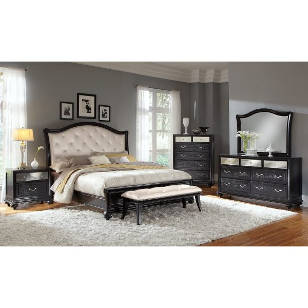Marilyn King Bed - Ebony American Signature Furniture