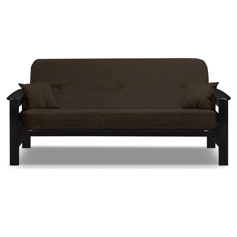 tampa futon sofa bed leather manufacturers uk - brown | american signature furniture