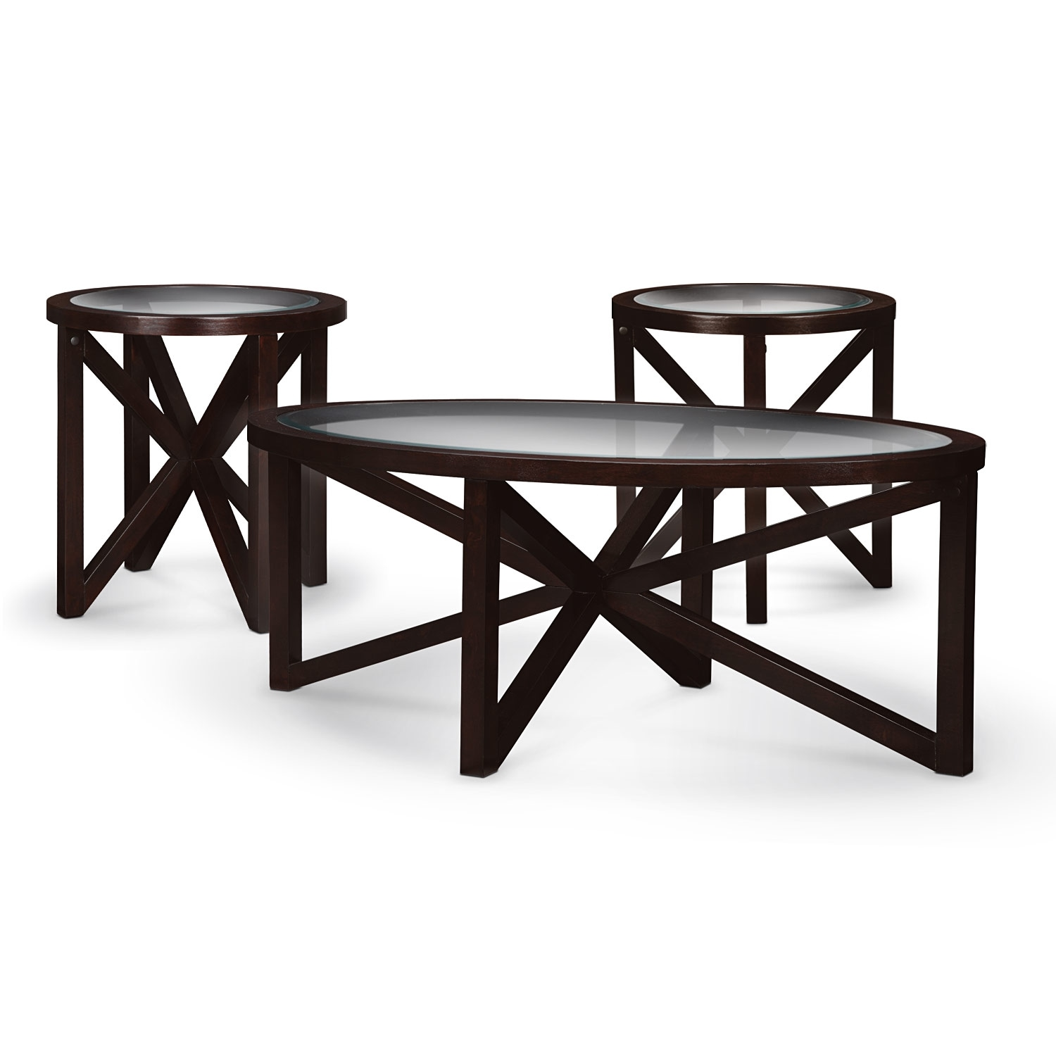 occasional table and chairs high back executive office chair leather starburst cocktail 2 end tables merlot value