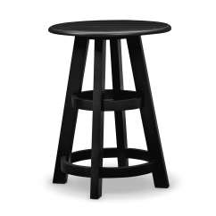 Gray Chair Side Table Pottery Barn Ladder Back Chairs Plantation Cove Coastal Chairside Black Value